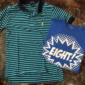 Boys Ralph Lauren shirt size 8 and bonus item